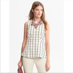 Banana Republic• Windowpane peplum top